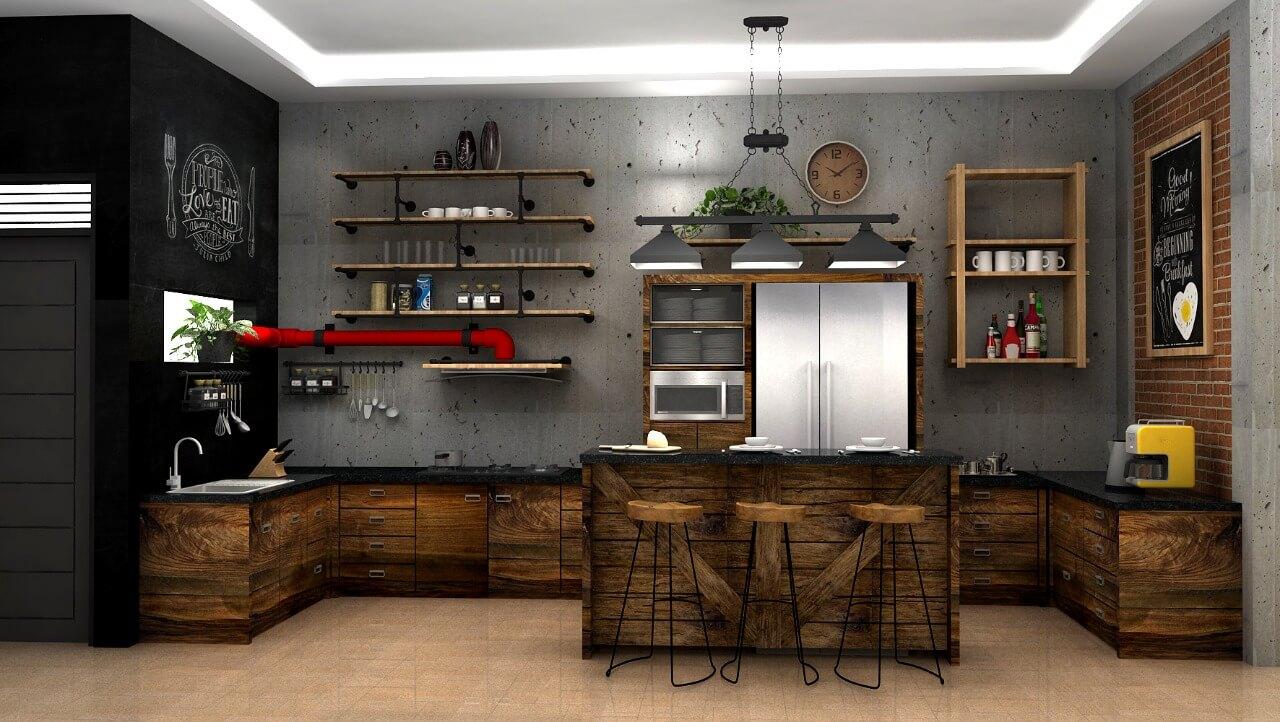 Desain kitchen set unik