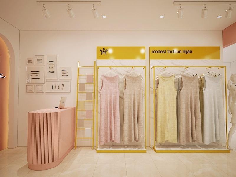 desain interior toko hijab